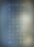 50 значков дела и технологии Стоковые Фотографии RF