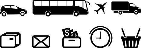 9 значков обслуживания стоковое изображение rf