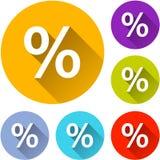 6 значков процента Стоковые Изображения