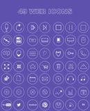 49 значков сети Стоковые Фото