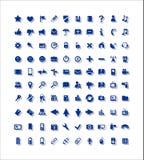 100 значков, сеть, средства массовой информации, сообщения Иллюстрация вектора