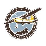 Значок авиации в ретро стиле Стоковое Изображение RF