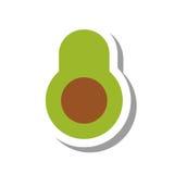 Значок авокадоа vegetable здоровый иллюстрация штока
