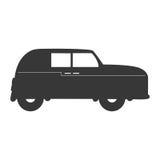 Значок автомобиля Англии классическим изолированный кораблем иллюстрация вектора