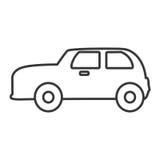 Значок автомобиля Англии классическим изолированный кораблем бесплатная иллюстрация