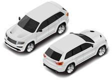 Значок автомобиля вектора равновеликий Переход для infographics иллюстрация вектора