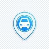 Значок автостоянки на указателе карты, метке положения бесплатная иллюстрация