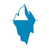 Значок айсберга изолированный на белой предпосылке Стоковые Изображения RF