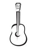Значок акустической гитары Стоковые Изображения RF
