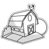 Значок амбара фермы бесплатная иллюстрация
