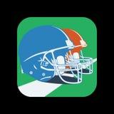 Значок американского футбола шлема Стоковая Фотография