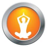 Значок апельсина представления лотоса йоги Стоковая Фотография RF