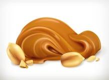 Значок арахисового масла иллюстрация вектора