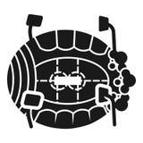Значок арены льда, простой стиль иллюстрация вектора