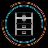 Значок архива шкафа - ящик файла вектора иллюстрация штока