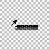 Значок архитектуры и здания плоско иллюстрация штока