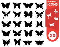 Значок бабочки на предпосылке colorfull стоковые изображения rf