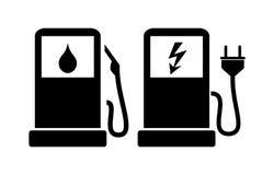 Значок бензоколонки Стоковое Изображение