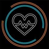 Значок биения сердца вектора, монитор здоровья, здравоохранение бесплатная иллюстрация