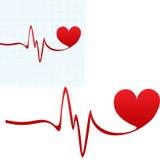 Значок биения сердца Стоковые Изображения