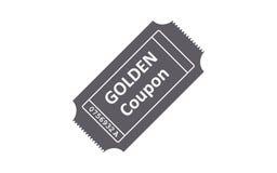 Значок билета на белой предпосылке также вектор иллюстрации притяжки corel Стоковое Фото