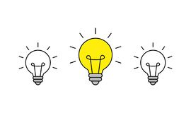 Значок блестящей идеи Значок шарика brainwaves creativity Идея r иллюстрация вектора