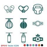 Значок бокса, оборудование и векторные графики спорта, символ на предпосылке бесплатная иллюстрация