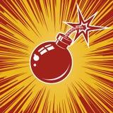 Значок бомбы с взрывом Элемент дизайна для плаката, футболка, иллюстрация штока