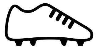 Значок ботинка футбола Стоковые Изображения RF