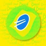 Значок Бразилии Стоковые Изображения RF
