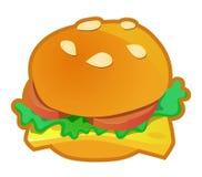 Значок бургера иллюстрация штока