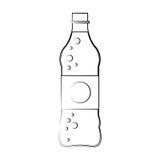 Значок бутылки безалкогольного напитка Стоковые Изображения