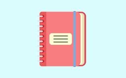 значок блокнота Иллюстрация значка тетради плоская значка вектора блокнота для сети Иллюстрация вектора