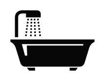 Значок ванной комнаты иллюстрация вектора