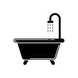 Значок ванны стоковое изображение rf