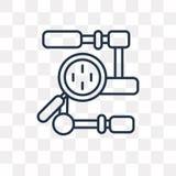 Значок вектора алгоритма изолированный на прозрачной предпосылке, линейной бесплатная иллюстрация