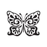 Значок вектора бабочки Стоковые Изображения RF