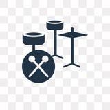 Значок вектора барабанчика установленный изолированный на прозрачной предпосылке, se барабанчика бесплатная иллюстрация