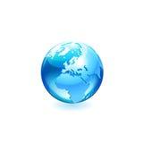 Значок вектора глобуса Стоковые Фотографии RF