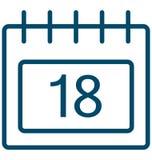18, значок вектора дня специального события 18 который можно легко доработать или редактировать бесплатная иллюстрация