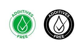 Значок вектора добавок свободный Добавки свободные, естественный пакет еды, зеленое падение иллюстрация вектора