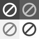 Значок вектора запрещая знак Невозможный Остановите и запретите знак Vec бесплатная иллюстрация