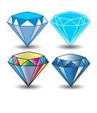 Значок вектора диаманта Стоковые Изображения RF