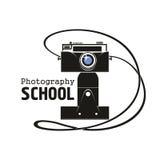 Значок вектора камеры школы фотографии Стоковые Изображения RF