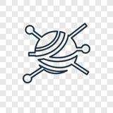Значок вектора концепции валика Pin линейный изолированный на прозрачном b бесплатная иллюстрация