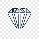 Значок вектора концепции диаманта линейный изолированный на прозрачном backg бесплатная иллюстрация