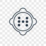 Значок вектора концепции кнопки линейный изолированный на прозрачном backgr бесплатная иллюстрация