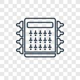 Значок вектора концепции коробки взрывателя линейный на прозрачной задней части иллюстрация штока