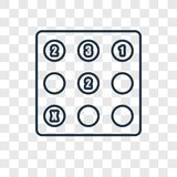 Значок вектора концепции Sudoku линейный изолированный на прозрачном backgr иллюстрация штока