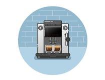 Значок вектора машины кофе Стоковое фото RF